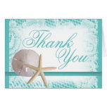 Sand Dollar and Starfish Thank You Card
