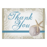 Sand Dollar and Starfish Thank You Stationery Note Card
