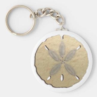 sand dollar basic round button keychain
