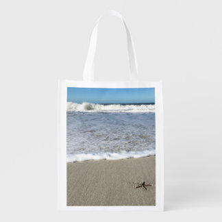 Sand dollar beach bag market tote