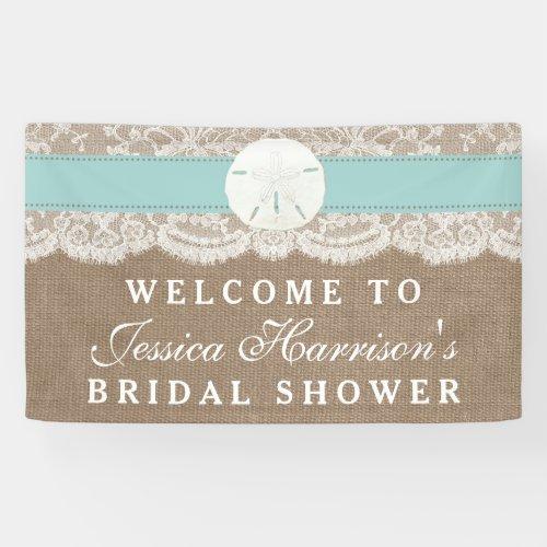 Sand Dollar Beach Bridal Shower _ Turquoise Banner