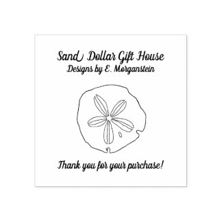 Sand Dollar Beach Business Thank You Stamp