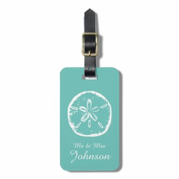 logotees Sand dollar beach destination travel luggage tags