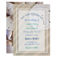 Sand Dollar Beach Themed Wedding Invitations