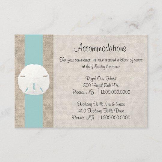 Sand Dollar Beach Wedding Invitations