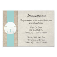 Sand Dollar Beach Wedding Accommodation Card