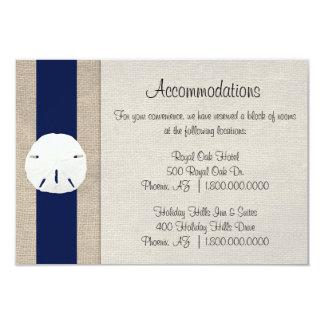 Beach Wedding Accommodation Cards Beach Wedding Accommodation Card Templates Postage