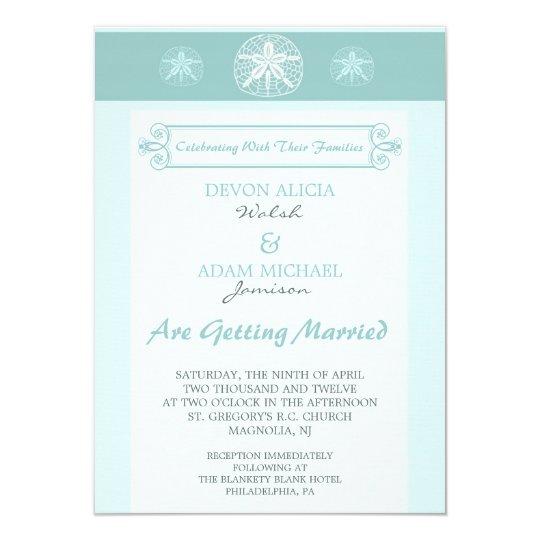 Sand Dollar Beach Wedding Invitation