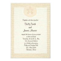 Sand Dollar Beach Wedding Invitation