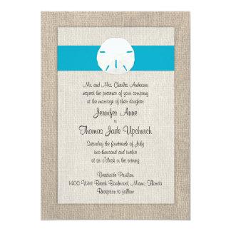 Sand Dollar Beach Wedding Invitation - Malibu