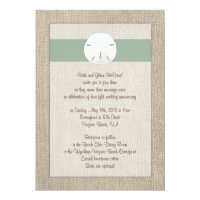 Sand Dollar Beach Wedding Invitation - Peridot