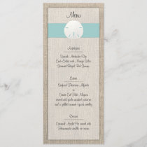 Sand Dollar Beach Wedding Menu