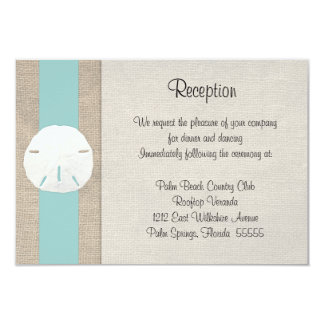 sand dollar beach wedding reception invitation car - Wedding Reception Invitations