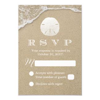 Sand Dollar Beach Wedding RSVP Response Card