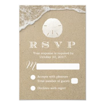 myinvitation Sand Dollar Beach Wedding RSVP Response Card