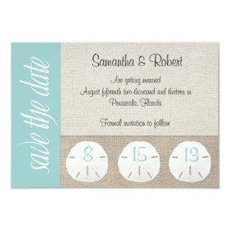 Sand Dollar Beach Wedding Save the Date 3.5x5 Paper Invitation Card