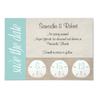 Sand Dollar Beach Wedding Save the Date Card