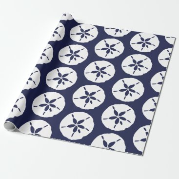 Wedding Themed Sand Dollar Beachcomber Sea Shell Print Wrapping Paper
