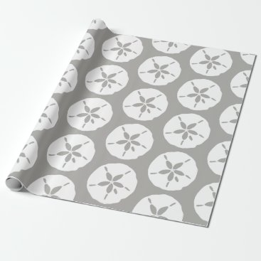Wedding Themed Sand Dollar Beachcomber Sea Shells Print Wrapping Paper