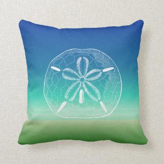 Sand Dollar Blue Green Seascape Pillow