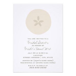 Sand Dollar Bridal Shower Invitation