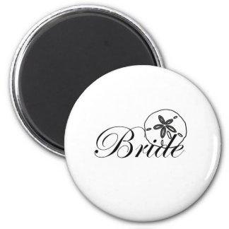 Sand Dollar Bride Fridge Magnet