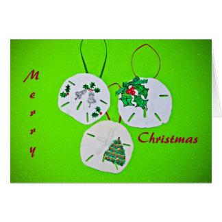 Sand Dollar Christmas Greeting Card