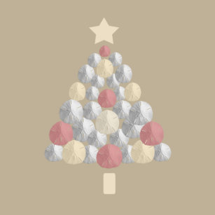 sand dollar christmas tree light brown classic round sticker