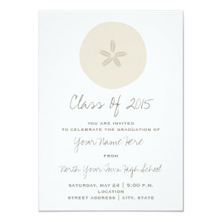 Sand Dollar Class of 2015 Graduation Invitation