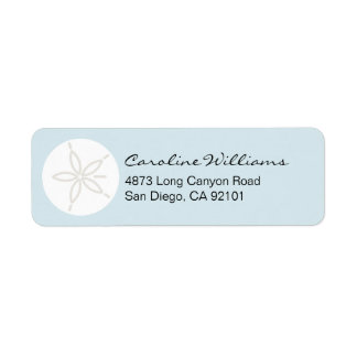 Sand Dollar Custom Return Address Label