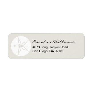 Sand Dollar Custom Return Address Labels