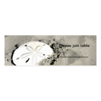 Sand dollar Escort Cards Mini Business Card