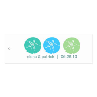Sand Dollar Gift Tags Business Card Templates