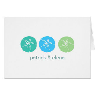 Sand Dollar Horizontal Note Cards