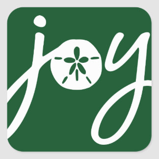 Sand Dollar Joy Square Sticker