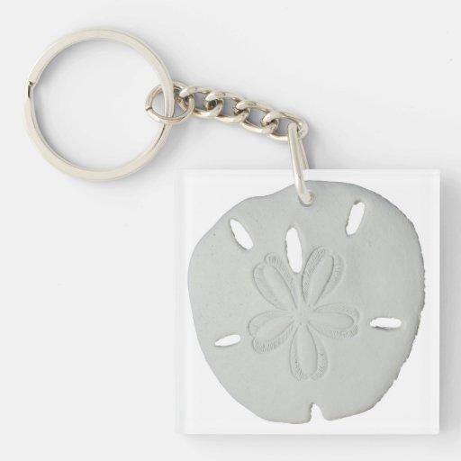 Sand Dollar Key Chain Square Acrylic Key Chains