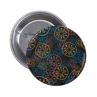 Sand Dollar Lines Red Yellow Blue Pinback Buttons