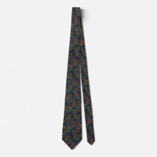 Sand Dollar Lines Red Yellow Blue Neck Tie