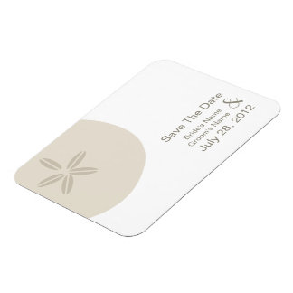 Sand Dollar Modern Wedding Save The Date Magnet