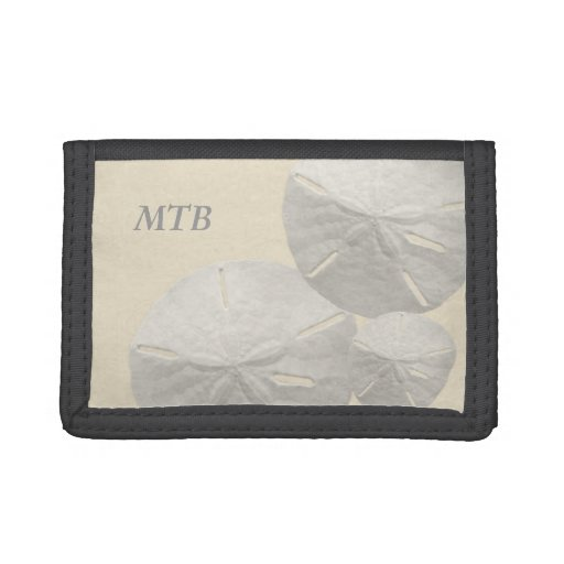 Sand Dollar Monogram Tri-fold Wallets