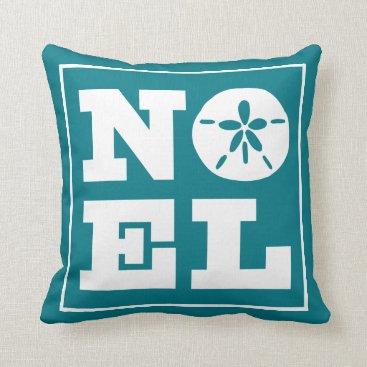 Beach Themed Sand Dollar Noel Throw Pillow