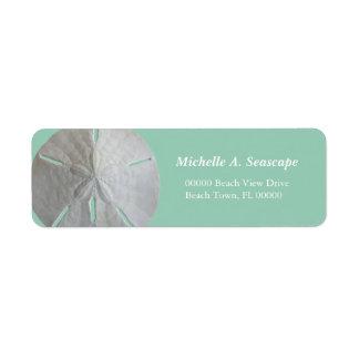 Sand Dollar on Jade Return Address Label