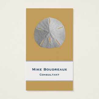 Sand Dollar on Sand Brown Business Card