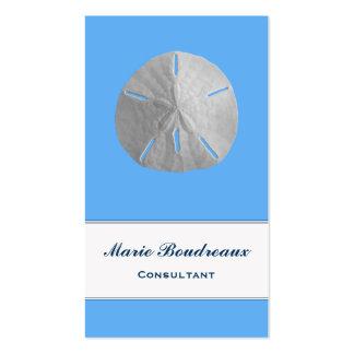 Sand Dollar on Tropical Blue Business Card