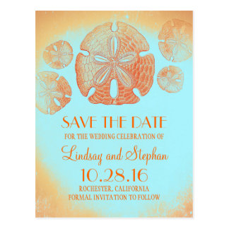 Sand Dollar Orange Beach Save the Date Postcards