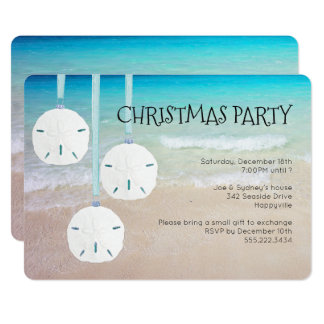 Sand Dollar Ornaments Christmas Party Beach Card