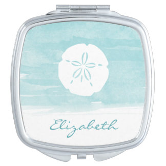Sand Dollar Personalized Compact Vanity Mirror