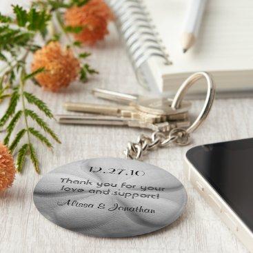 sandpiperWedding Sand Dollar Personalized Key Ring Wedding Favor