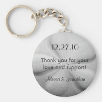 Sand Dollar Personalized Key Ring Wedding Favor