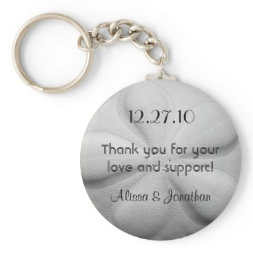 sandpiperWedding Sand Dollar Personalized Key Ring Wedding Favor